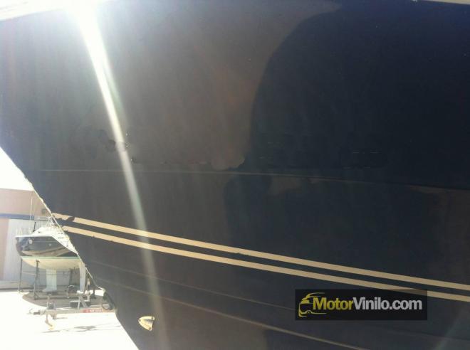Casco barco deteriorado
