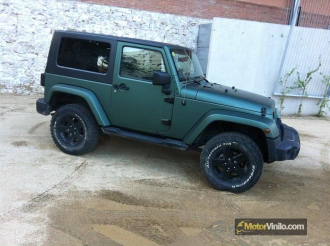 jeep vinilo verde pino