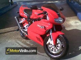 Tubo de Escape de la Ducati con Vinilo 1080-CF12