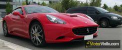 Ferrari California vinilo rojo brillante