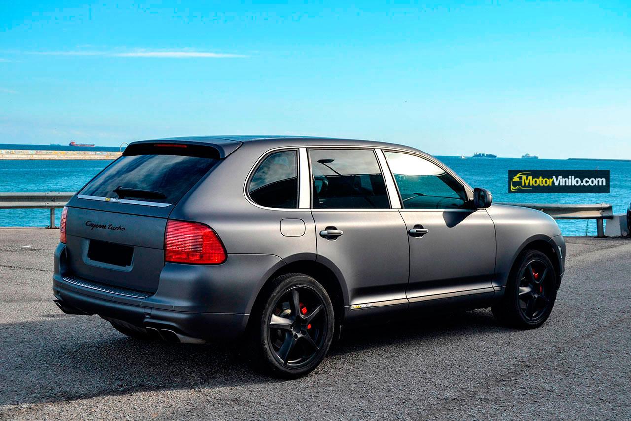 Fotos de coches porsche con vinilo for Exterior gris oscuro