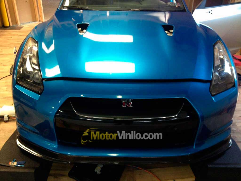 Vinilo azul brillante metalizado para coche - Pintura metalizada pared ...