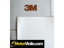 Vinilo carbono blanco 10cm x 152cm
