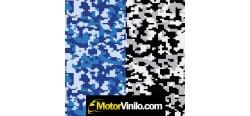 Coche vinilado camuflaje digital azul