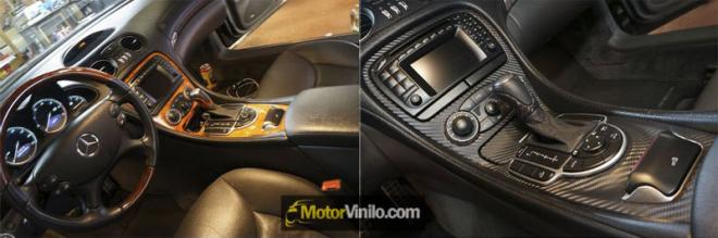 vinilo carbono interior mercedes