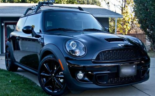 Mini Cooper con Vinilo Carbono Mate