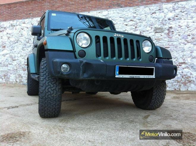 jeep wrangler vinilo verde pino