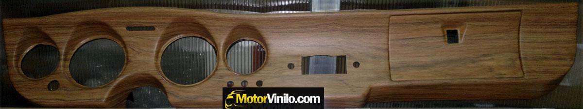 Restauraci n coche cl sico con vinilo salpicadero - Vinilos efecto madera ...