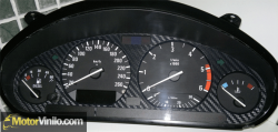 Cuadro BMW con fondo en Vinilo Carbono 3M