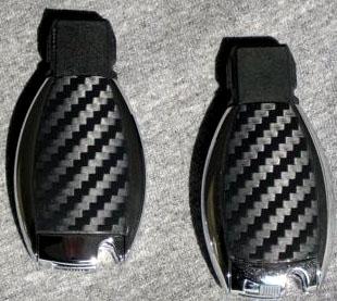 Llaves forradas con vinilo fibra de carbono